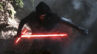 Kylo Ren in a scene from The Force Awakens