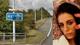 M53 motorway and Ellia Arathoon