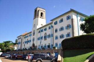 Kaminuza ya Makerere i Kampala mu Buganda
