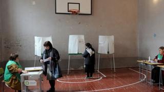 голосование в Грузии