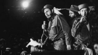 Fidel Castro speaking to supporters in the late 1950s