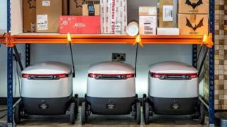 Robots at the post depot