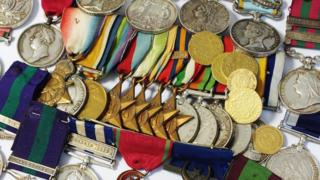 Some of the coins and medals