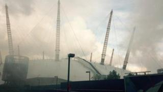 Fire at O2 Arena