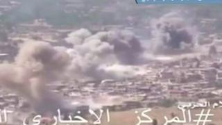 Zabadani in Syria as government forces bomb rebel positions