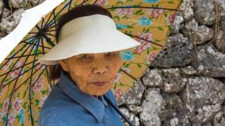 Mujer mayor japonesa