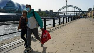 People walking in Newcastle