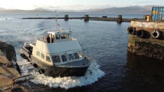 Island Princess docking at Greenock