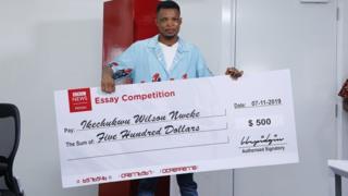 Ikechukwu Wilson winner of BBC Pidgin Essay Competition
