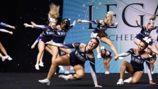 Cheerleaders at Legacy Cheer