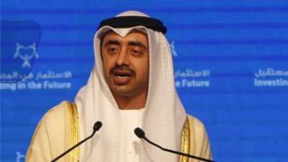 Birleşik Arap Emirlikleri Dışişleri Bakanı Şeyh Abdullah bin Zayed Al-Nahyan