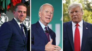 Hunter Biden, Joe Biden and Donald Trump
