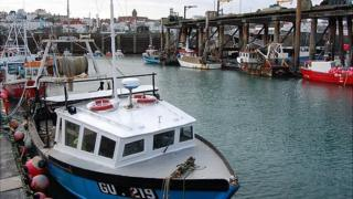 Fishing boats in Guernsey's St Peter Port Harbour