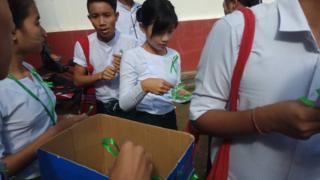 ရန်ကင်းပညာရေးကောလိပ်ကျောင်းဝင်းထဲက ဖဲကြိုးစိမ်းလှုပ်ရှားမှု