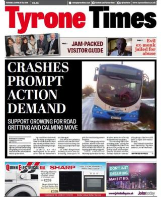 Front page of the Tyrone Times