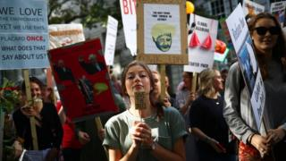 Climate protesters for London