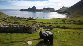 Sir James MacMillan playing the lost songs on St Kilda