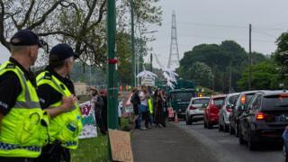 Dipton opencast mine protest