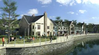 An artist's impression of possible development at Burry Port harbour