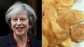 Theresa May and some crisps