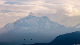 The Annapurna mountain range (June 2015)