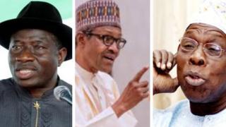 Jonathan, Buhari, Obasanjo