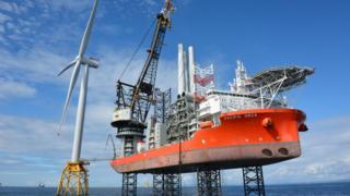 Pacific Orca installing turbine