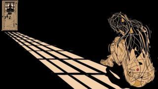 صورة تعبيرية لأمرأة أسيرة