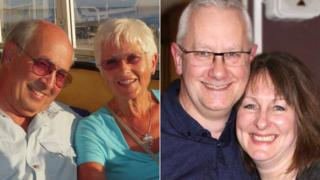 From left: Nigel and Helen Charlton, and Andrew Virco and Katharine Walker