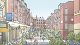 An artist's vision of how Lloyds Avenue could look