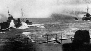 Action from the Battle of Jutland