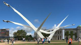 Scene from the Goodwood Festival of Speed