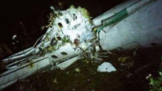 الطائرة الكولومبية المنكوبة