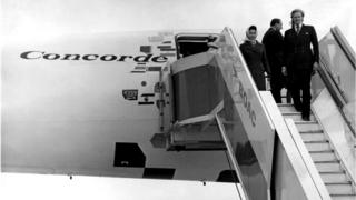 The Queen on Concorde