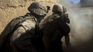 US Marines in Afghanistan (file photo)