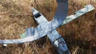 Downed drone in Deliosman Village.