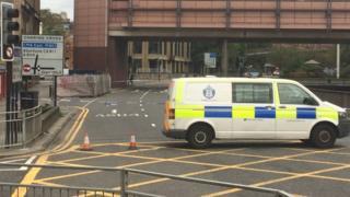 Police van at Charing Cross