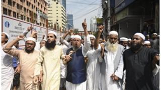 Protesta contra los ataques de Christchurch en Bangaldesh