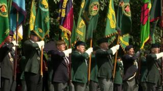 Operation Banner: Military veterans attend parade