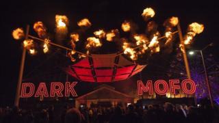 Photo of the Dark Mofo festival in Hobart, the capital of Tasmania