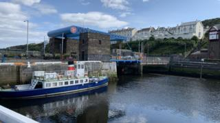 Douglas inner harbour and lifting bridge