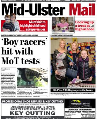 Mid-Ulster Mail front page Friday 27th January