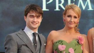 Daniel Radcliffe and J.K. Rowling