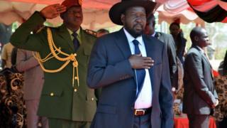 Le président sud-soudanais Salva Kiir à Juba le 19 mars 2015.