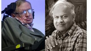 ज्येष्ठ शास्त्रज्ञ स्टीफन हॉकिंग आणि डॉ. जयंत नारळीकर
