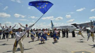 Безвіз, Україна, Аеропорт, літак