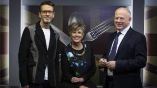 Oliver Peyton, Prue Leith and Matthew Fort