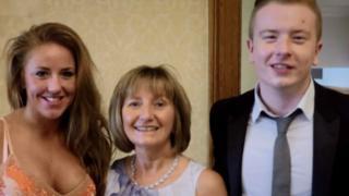 Jenn Barnes, mum Janet and brother Calum