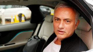 Jose Mourinho drives away after leaving his job as Manchester United manager in Decemebr