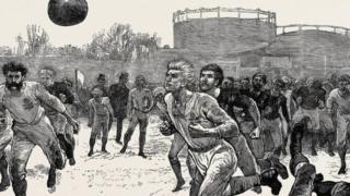 Иллюстрация матча Шотландия-Англия.